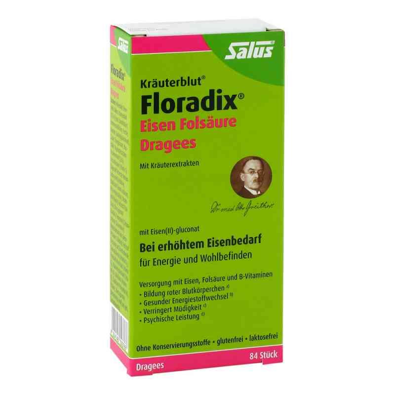 Floradix Eisen Folsäure Dragees  bei apolux.de bestellen