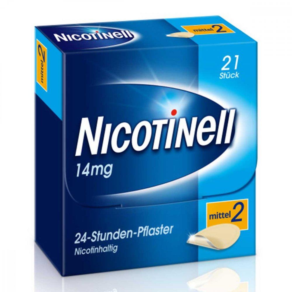 GlaxoSmithKline Consumer Healthc Nicotinell 14mg/24-Stunden-Nikotinpflaster, Mittel (2) 21 stk 00110071
