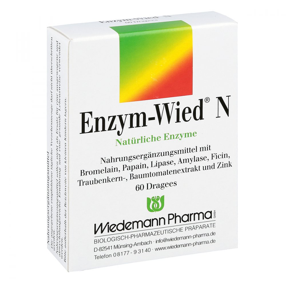 Mauermann Arzneimittel KG Enzym Wied N Dragees 60 stk 00602182