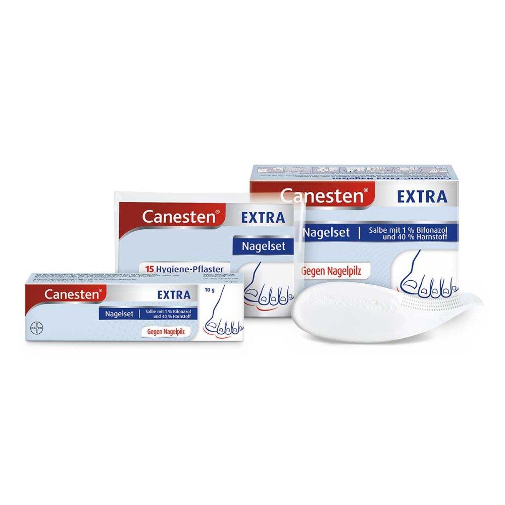Bayer Vital GmbH Canesten Extra-Nagelset gegen Nagelpilz (+15 Pflaster+Schaber) 1 stk 00619053
