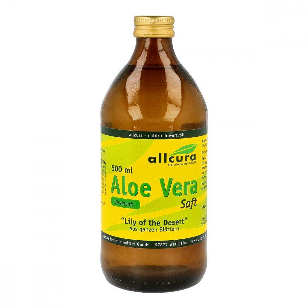 allcura Naturheilmittel GmbH Aloe Vera Saft Ganzblatt 500 ml 00820217