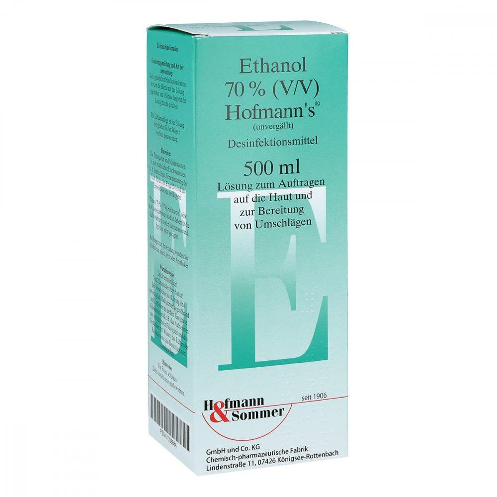 Hofmann & Sommer GmbH & Co. KG Ethanol 70% V/v Hofmann's 500 ml 01038884