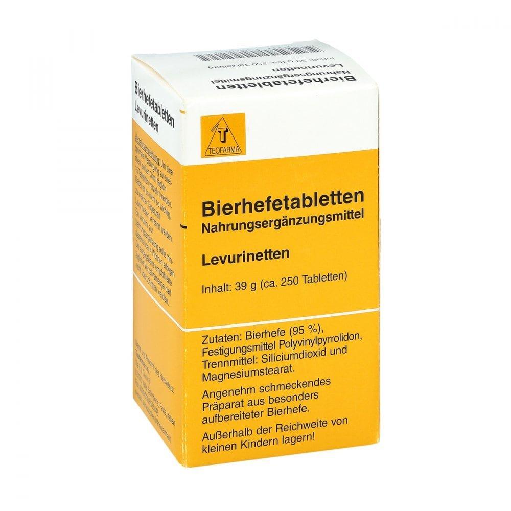 Teofarma s.r.l. Bierhefe Tabletten Levurinetten 250 stk 01352209