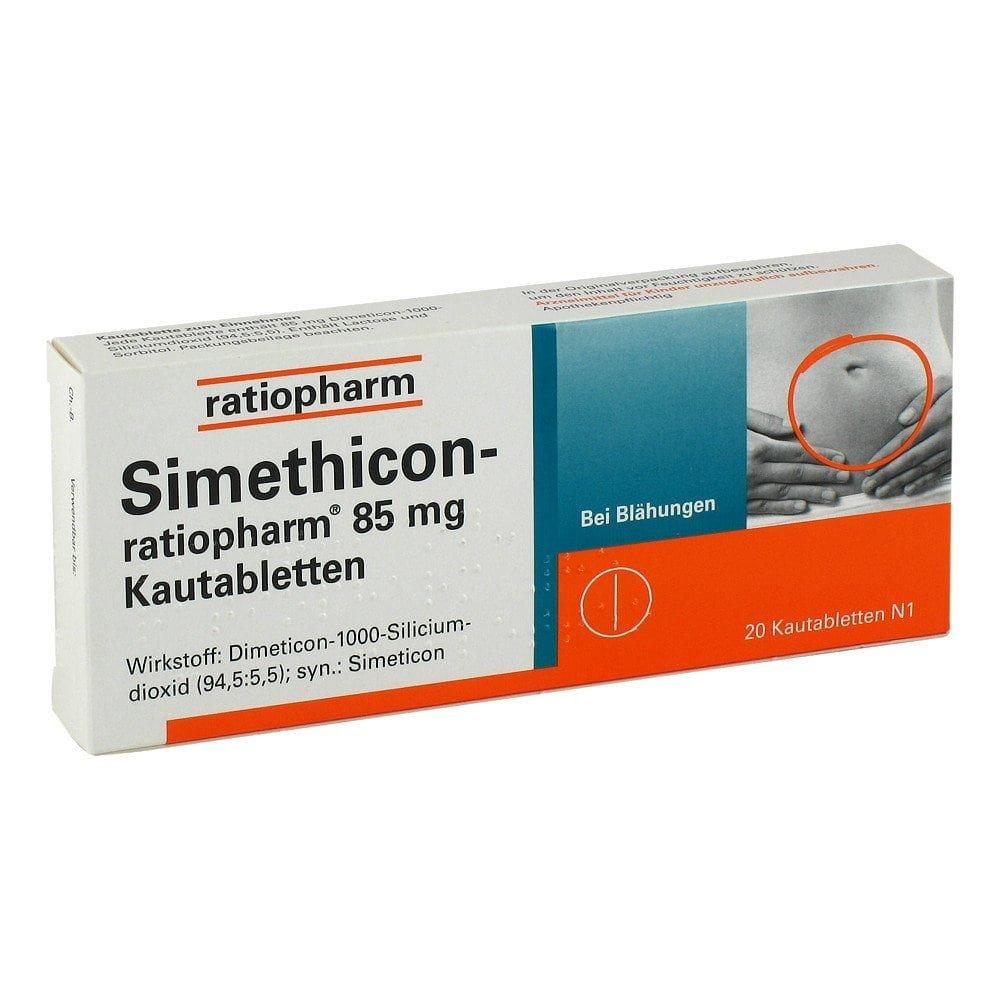 ratiopharm GmbH Simethicon-ratiopharm 85mg 20 stk 01364773