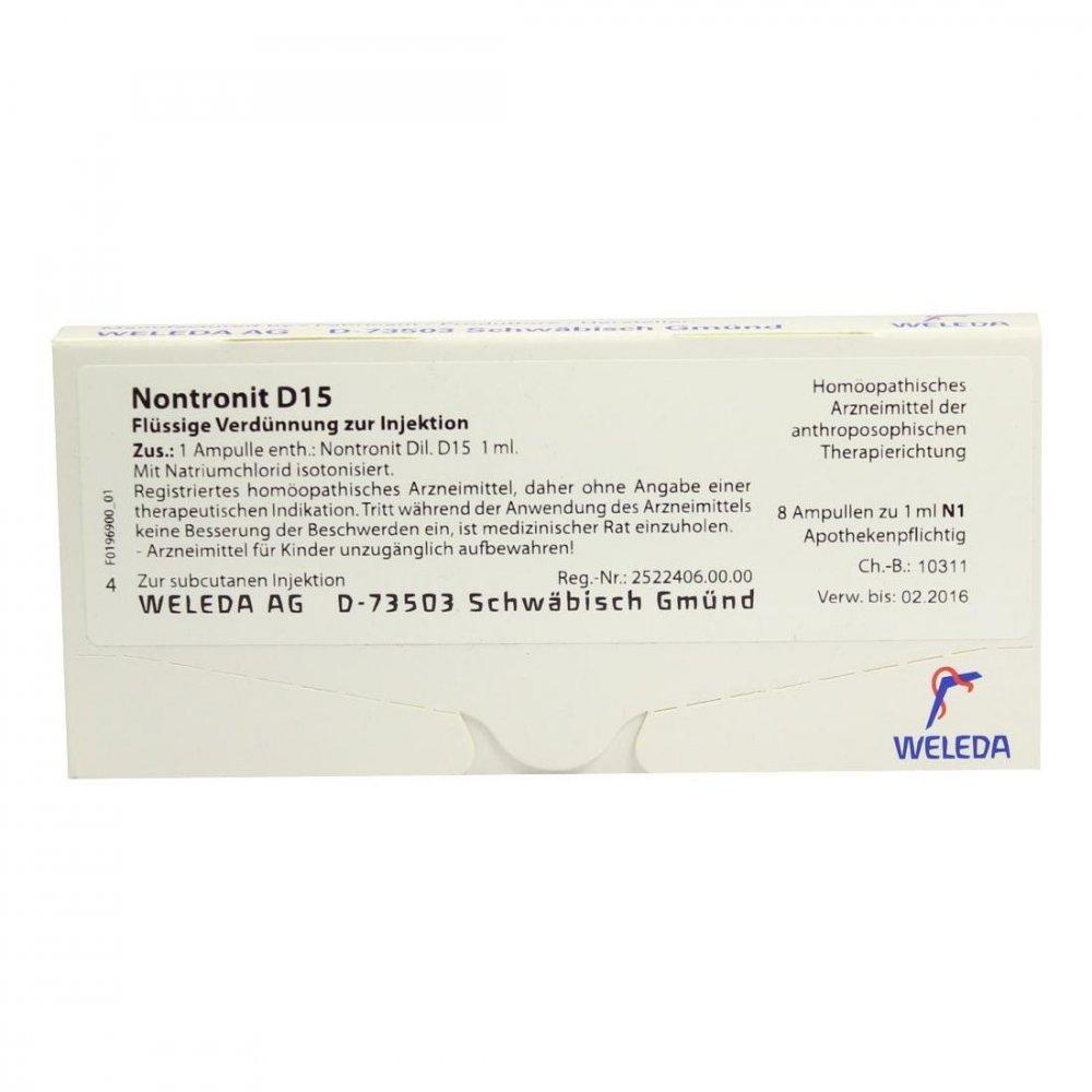 WELEDA AG Nontronit D15 Ampullen 8X1 ml 01624665