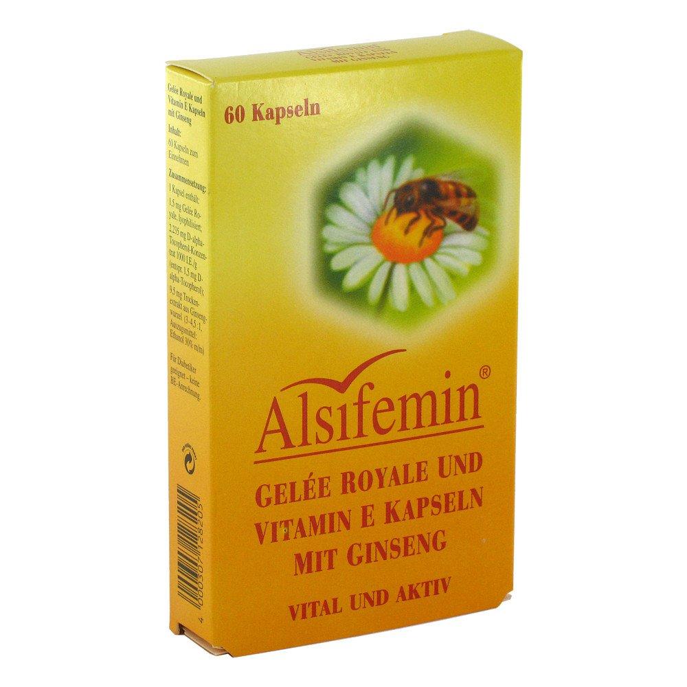 Alsitan GmbH Alsifemin Gelee Royal+vit.e mit Ginseng Kapseln 60 stk 02201234
