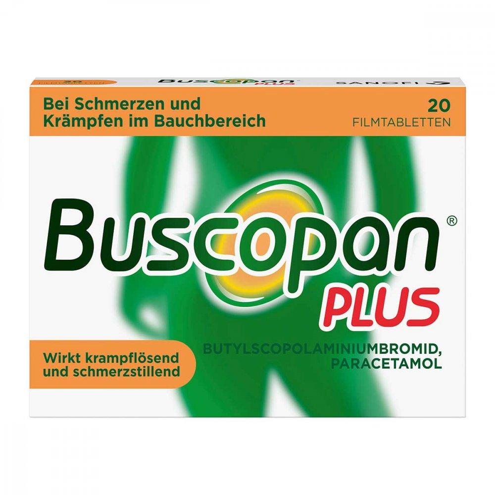 Sanofi-Aventis Deutschland GmbH Buscopan PLUS Filmtabletten bei Bauchschmerzen & Regelschmerzen 20 stk 02483617