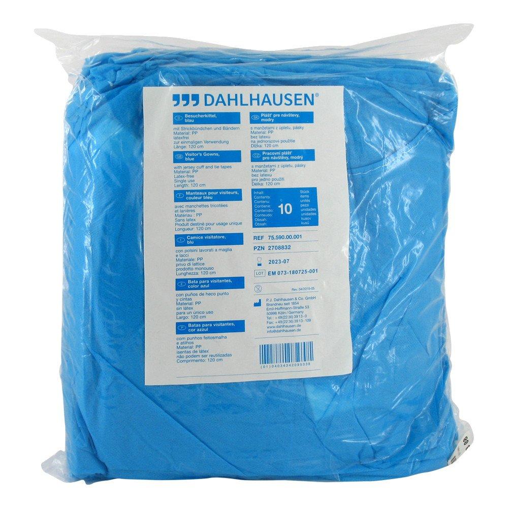 P.J.Dahlhausen & Co.GmbH Besucherkittel blau 10 stk 02708832