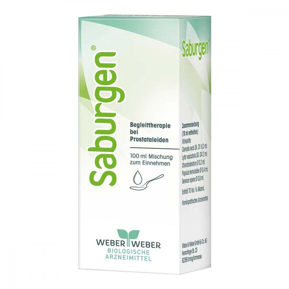 WEBER & WEBER GmbH & Co. KG Saburgen Tropfen zum Einnehmen 100 ml 02750343