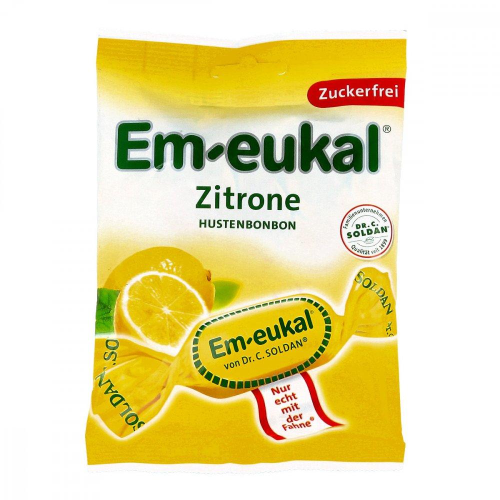 Dr. C. SOLDAN GmbH Em Eukal Bonbons Zitrone zuckerfrei 75 g 03165977