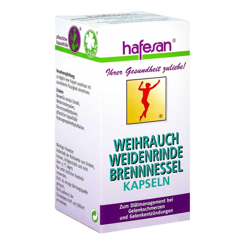 hafesan Handelsges.mbH Hafesan Weihrauch+weidenrinde+brennessel Kapseln 60 stk 03240704