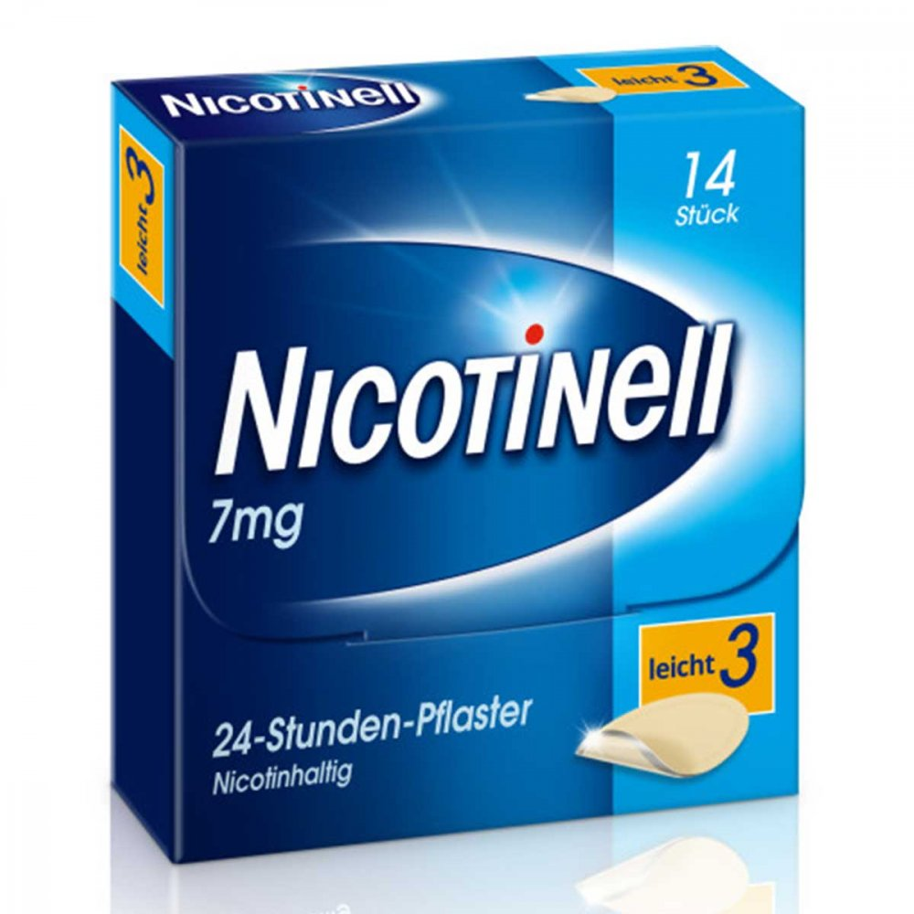 GlaxoSmithKline Consumer Healthc Nicotinell 7mg/24-Stunden-Nikotinpflaster, Leicht (3) 14 stk 03764519