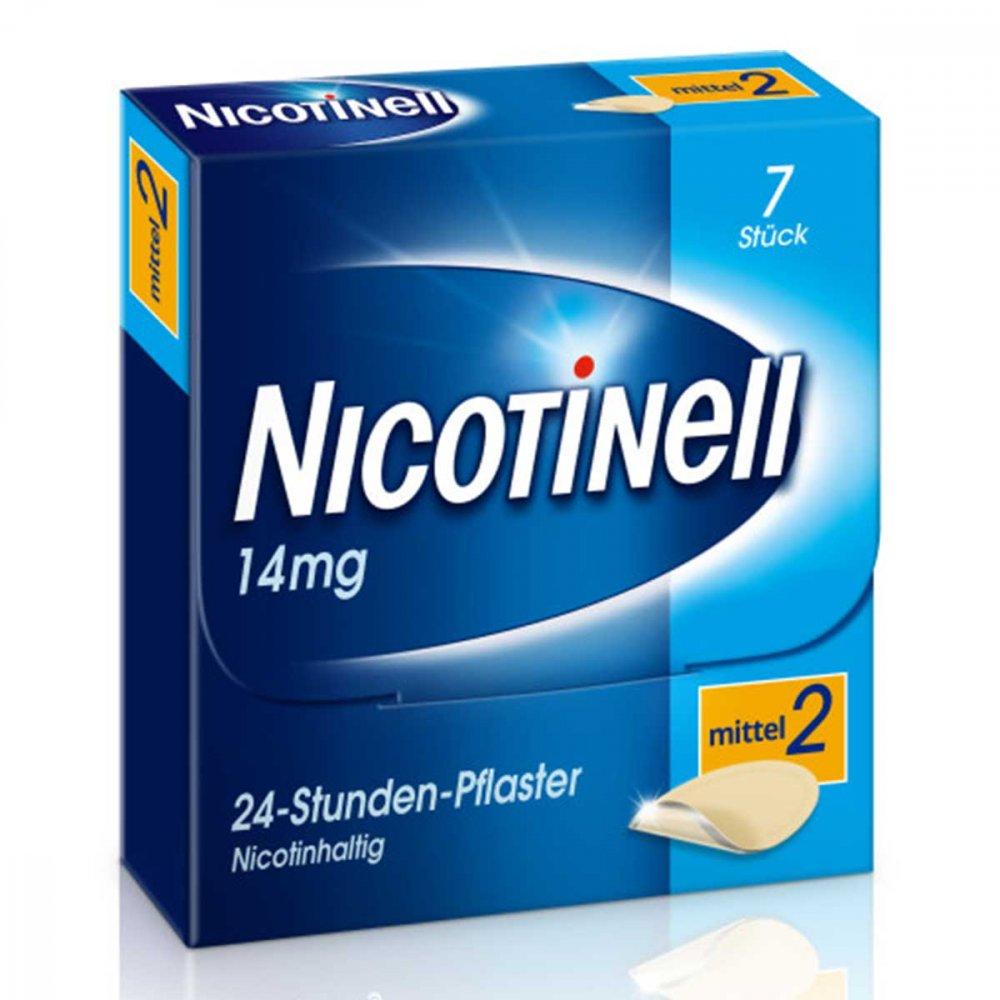 GlaxoSmithKline Consumer Healthc Nicotinell 14mg/24-Stunden-Nikotinpflaster, Mittel (2) 7 stk 03764531