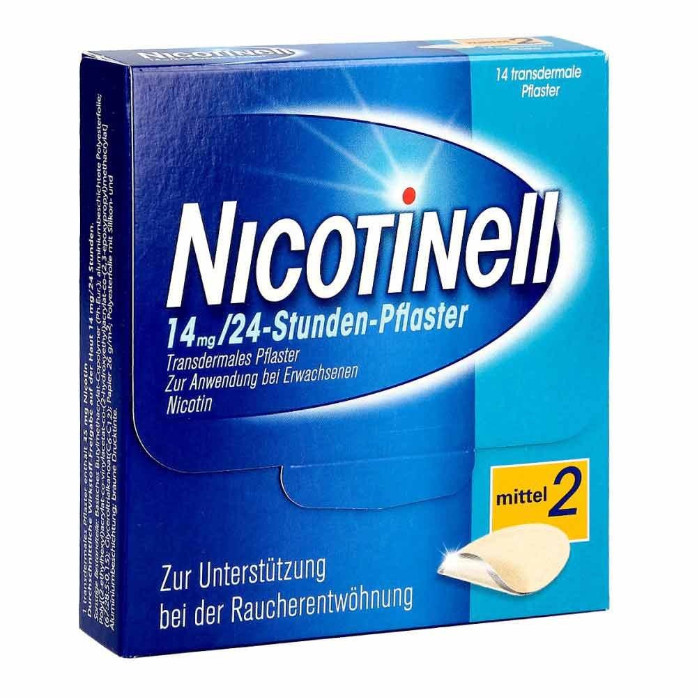 GlaxoSmithKline Consumer Healthc Nicotinell 14mg/24-Stunden-Nikotinpflaster, Mittel (2) 14 stk 03764548