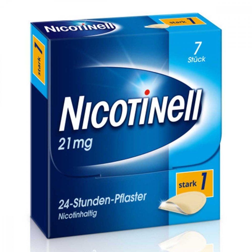 GlaxoSmithKline Consumer Healthc Nicotinell 21mg/24-Stunden-Nikotinpflaster, Stark (1) 7 stk 03764560