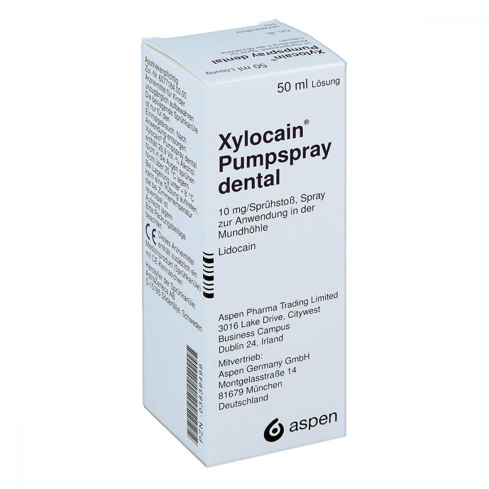 Aspen Germany GmbH Xylocain Pumpspray Dental 50 ml 03839499