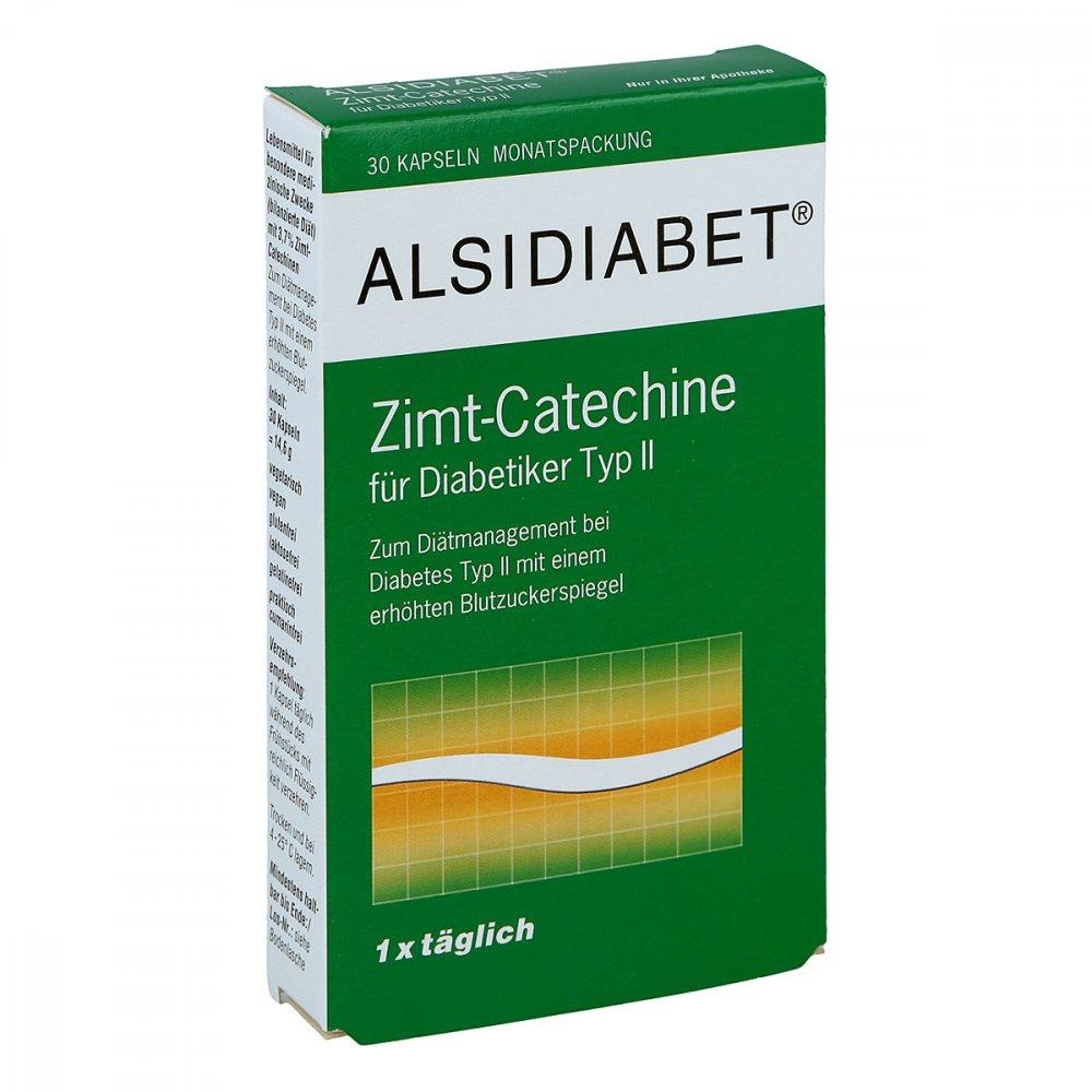 Alsitan GmbH Alsidiabet Zimt Catechine für Diab.Typ Ii Kapseln 30 stk 03896675