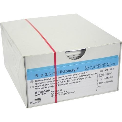 B. Braun Melsungen AG Histoacryl Gewebekleber Ampullen 5 stk 04929052
