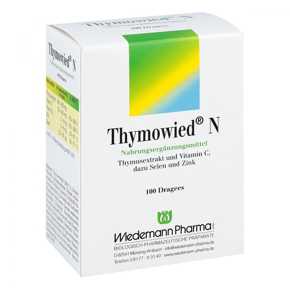 Mauermann Arzneimittel KG Thymowied N Dragees 100 stk 05143106