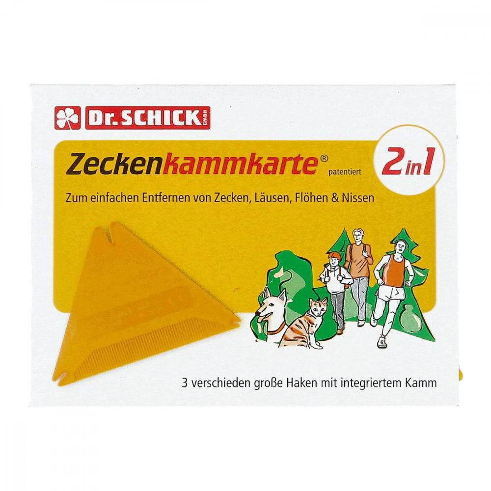 Inkosmia GmbH & Cie.KG Zeckenkammkarte 1 stk 06092397