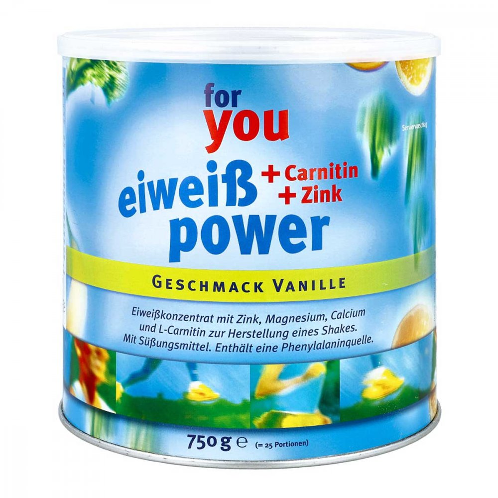For You eHealth GmbH For You Eiweiss Power Vanille 750 g 06147514