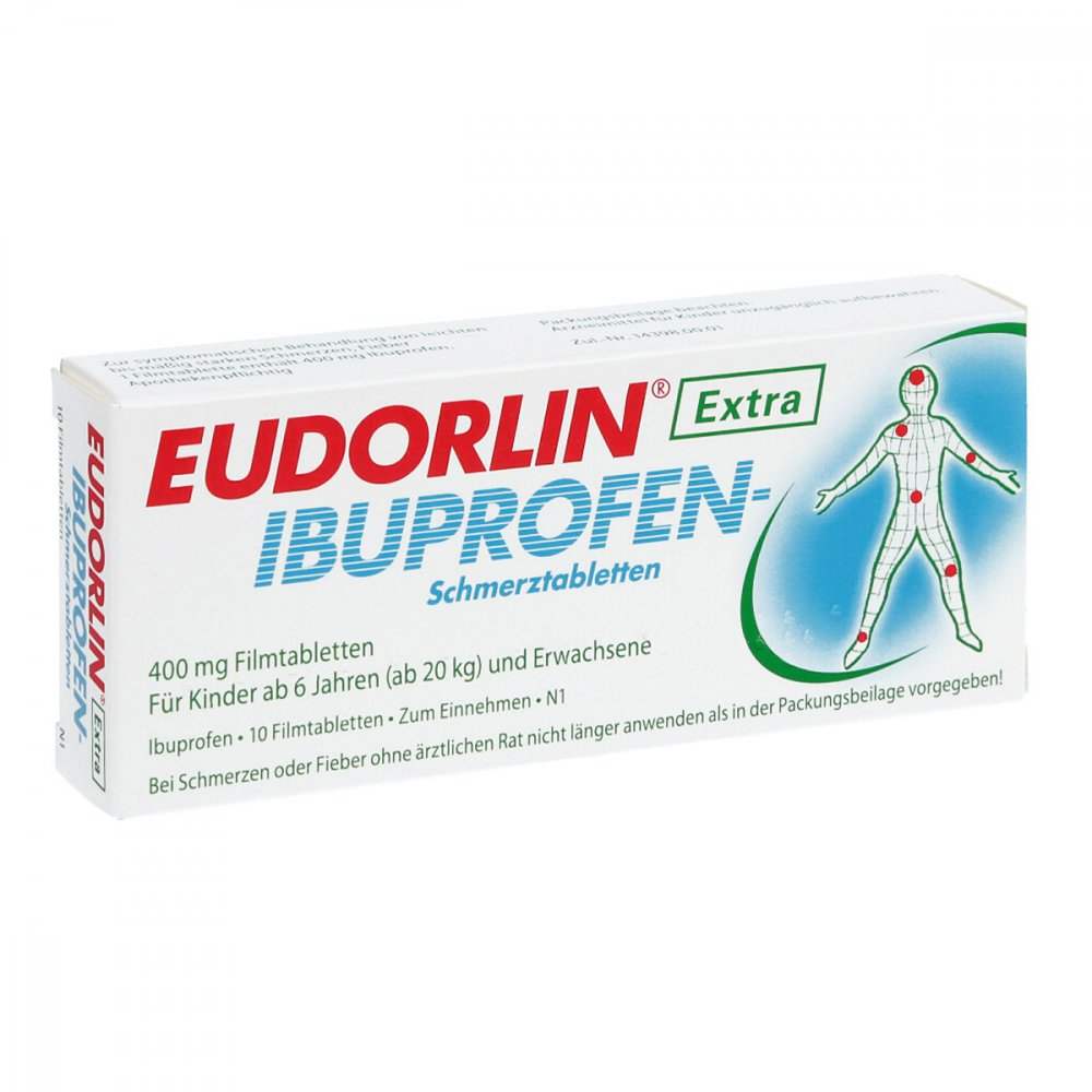 eudorlin extra ibuprofen schmerztabletten 10 stk. Black Bedroom Furniture Sets. Home Design Ideas