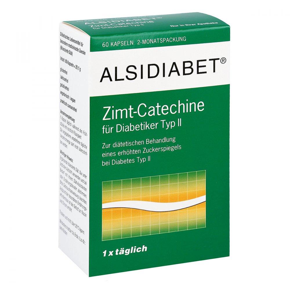 Alsitan GmbH Alsidiabet Zimt Catechine für Diab.Typ Ii Kapseln 60 stk 07026899