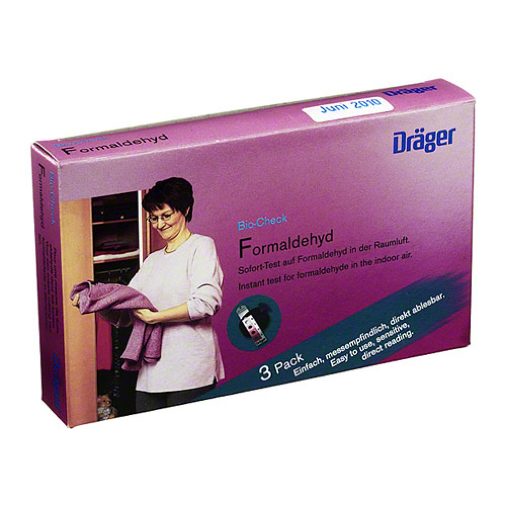 Dräger Safety AG & Co. KGaA Bio Check Formaldehyd Test 3 stk 07469421