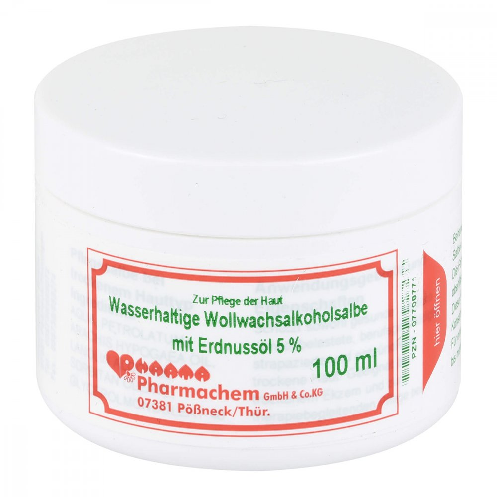 Pharmachem GmbH & Co. KG Wollwachsalkoholsalbe wasserh.m.Erdn.Öl 5% 100 g 07708771