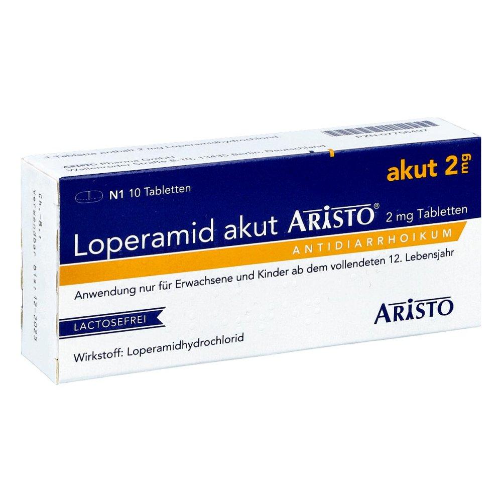 Aristo Pharma GmbH Loperamid akut Aristo 2mg 10 stk 07756497
