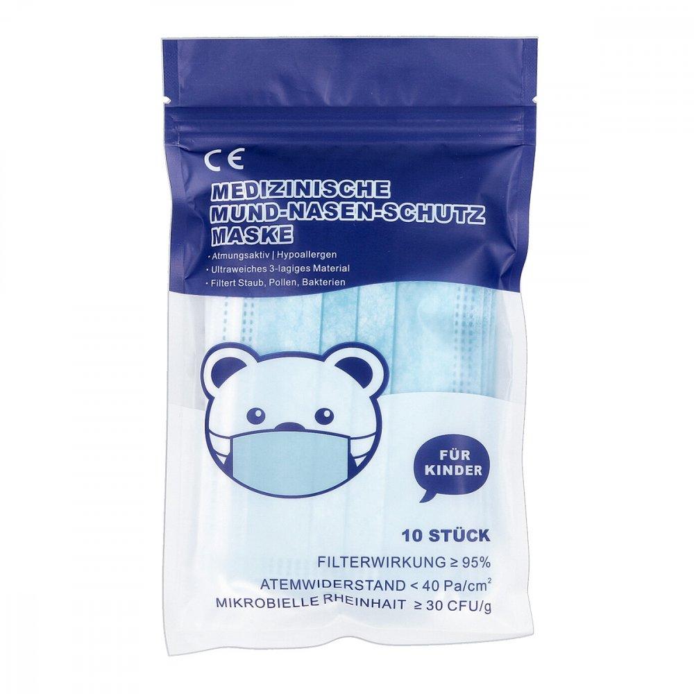 Mund-Nasen-Schutz Maske für Kind M mit Nasenbügel 10 stk 08101031