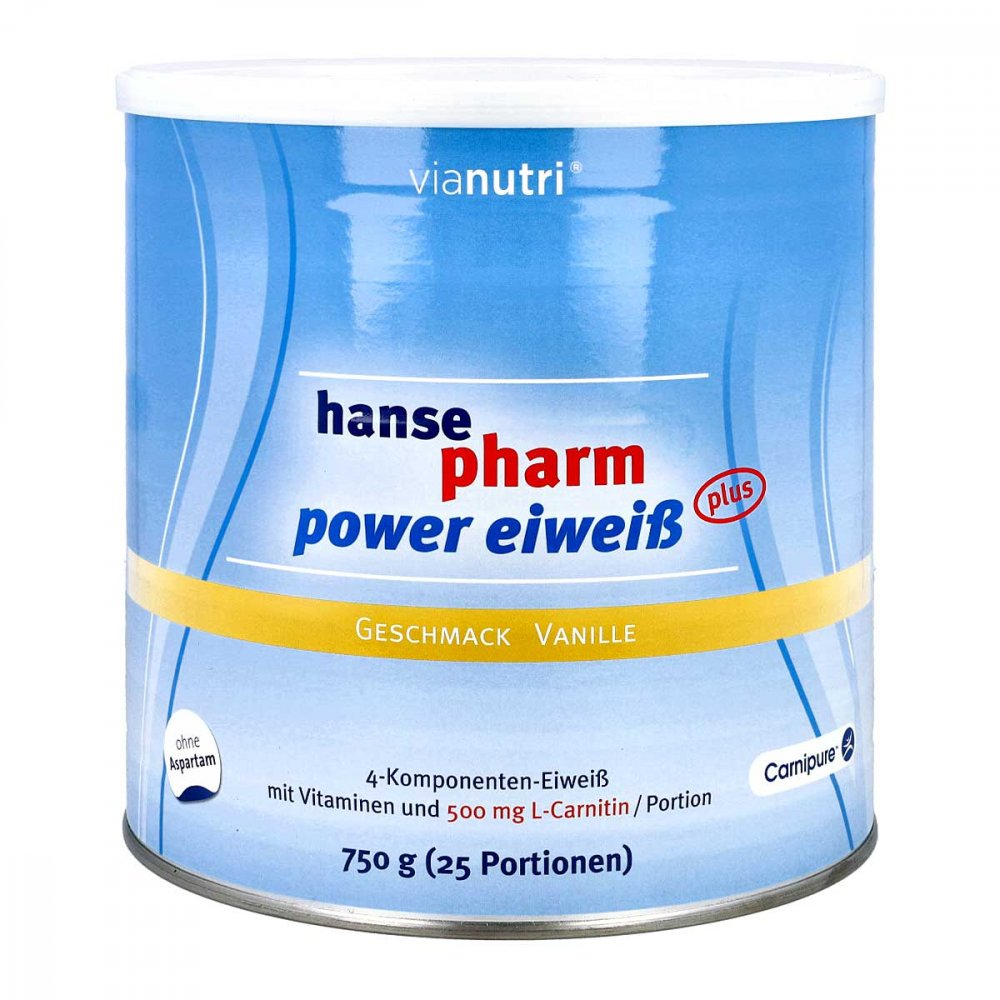 Hansepharm GmbH & Co. KG Hansepharm Power Eiweiss plus Vanille Pulver 750 g 08798173