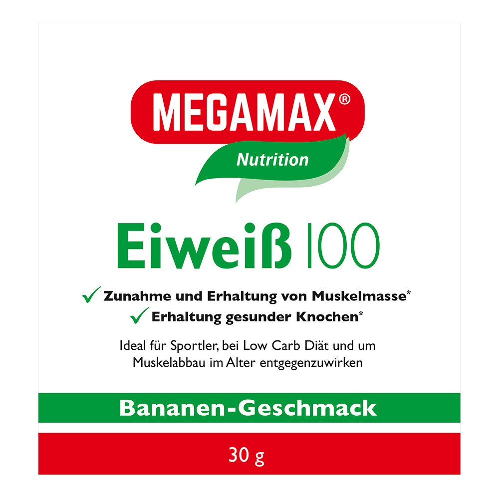 Megamax B.V. Eiweiss 100 Banane Megamax Pulver 30 g 09198050