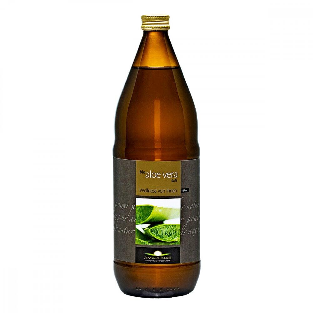 AMAZONAS Naturprodukte Handels G Aloe Vera Saft Bio 100% 1 l 09226556