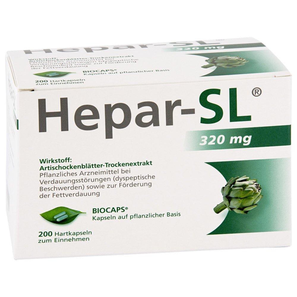 MCM KLOSTERFRAU Vertr. GmbH Hepar Sl 320 mg Hartkapseln 200 stk