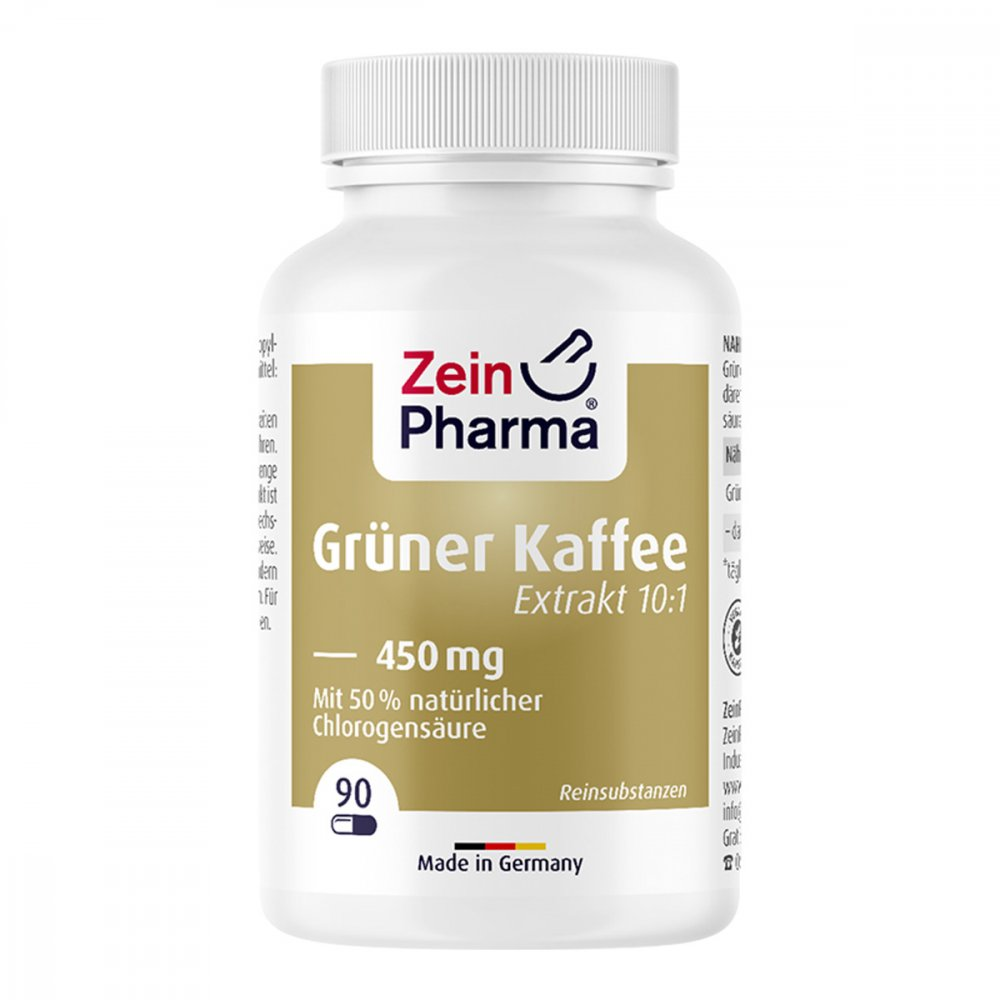 Grüner Kaffee Extrakt 450 mg Kapseln 90 stk 10198523