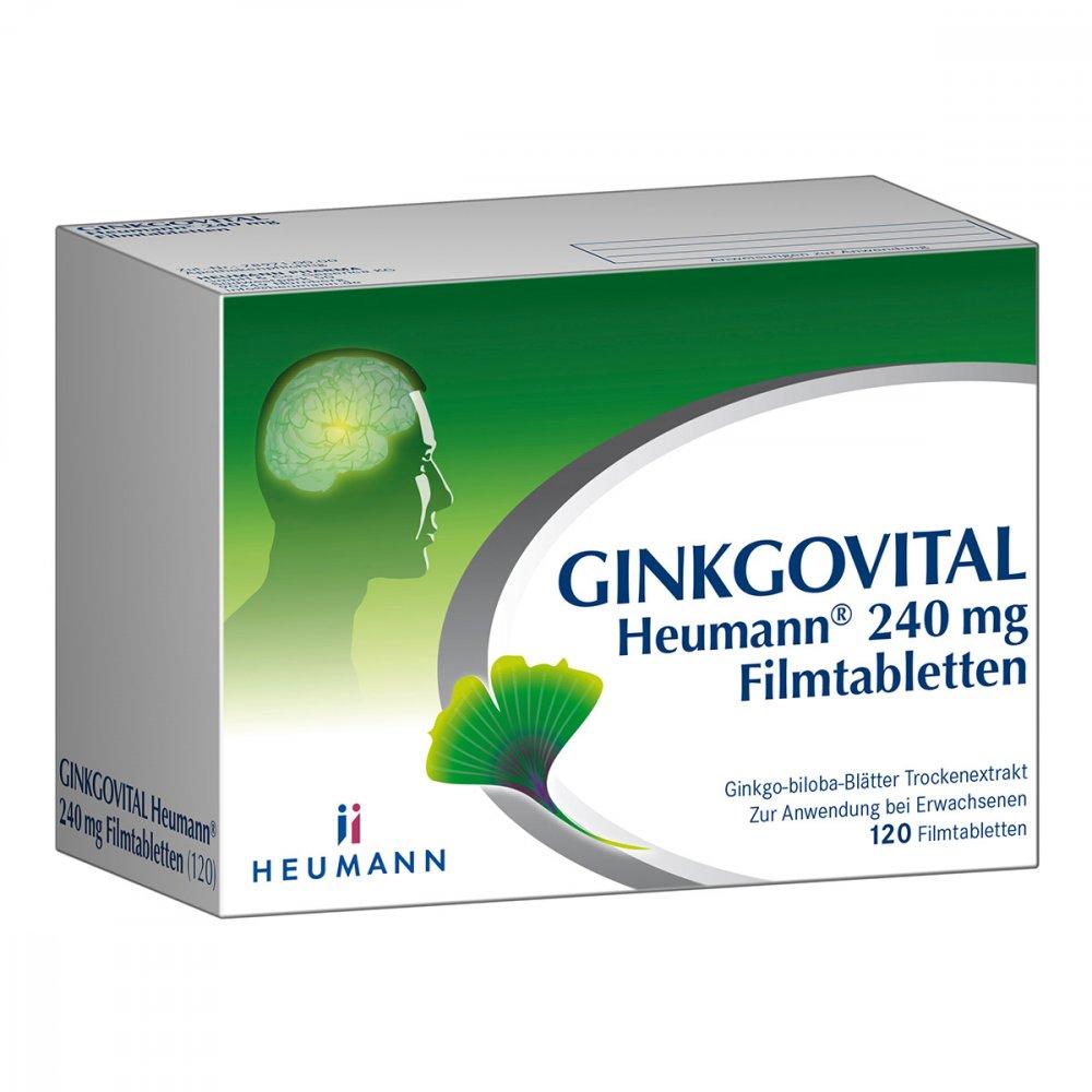 HEUMANN PHARMA GmbH & Co. Generi GINKGOVITAL Heumann 240mg 120 stk 11526283