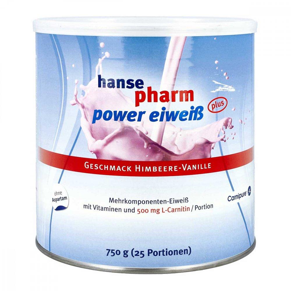 Hansepharm GmbH & Co. KG Hansepharm Power Eiweiss plus Himbeere-vanille Plv 750 g 11537884