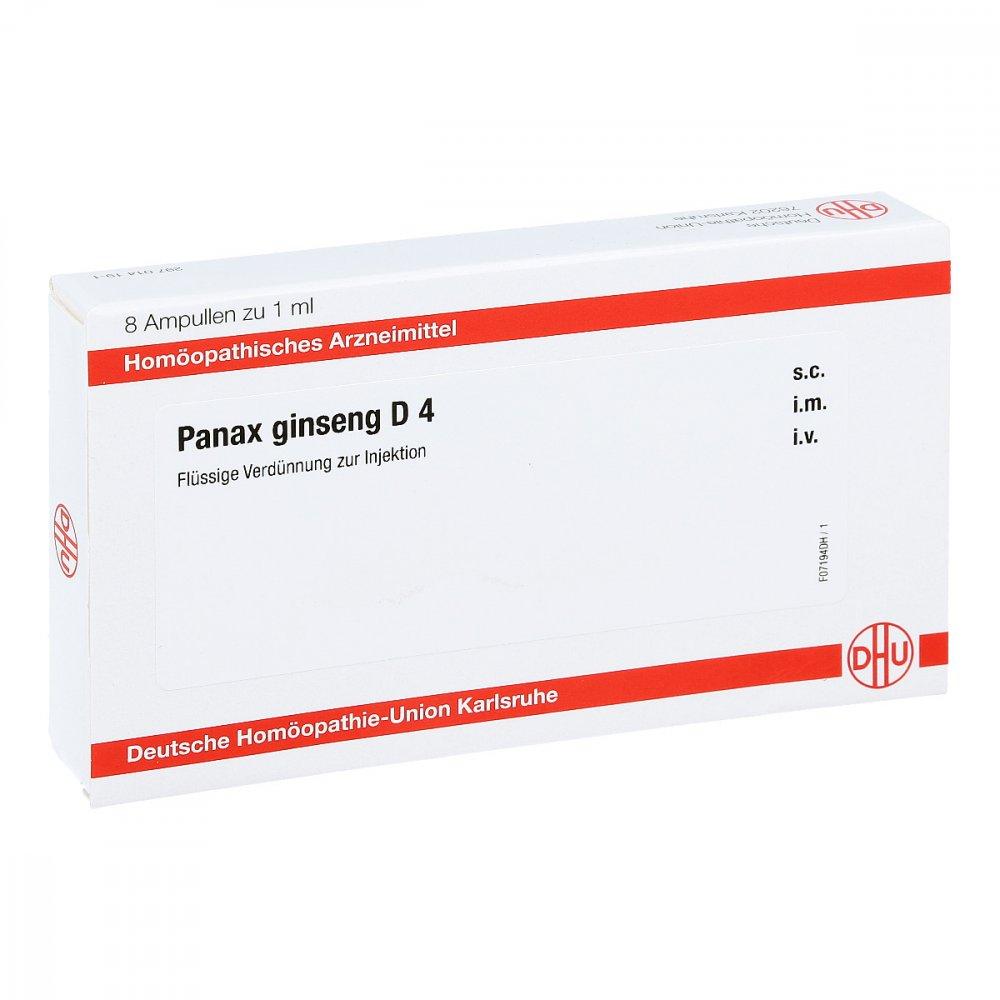 DHU-Arzneimittel GmbH & Co. KG Panax Ginseng D4 Ampullen 8X1 ml 11707582