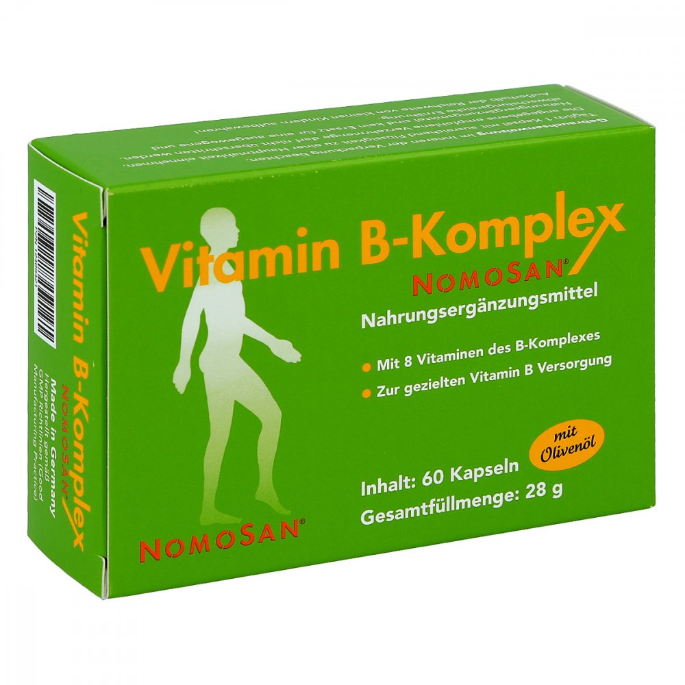 NOMOSAN GmbH Vitamin B-komplex Nomosan Kapseln 60 stk 12409421