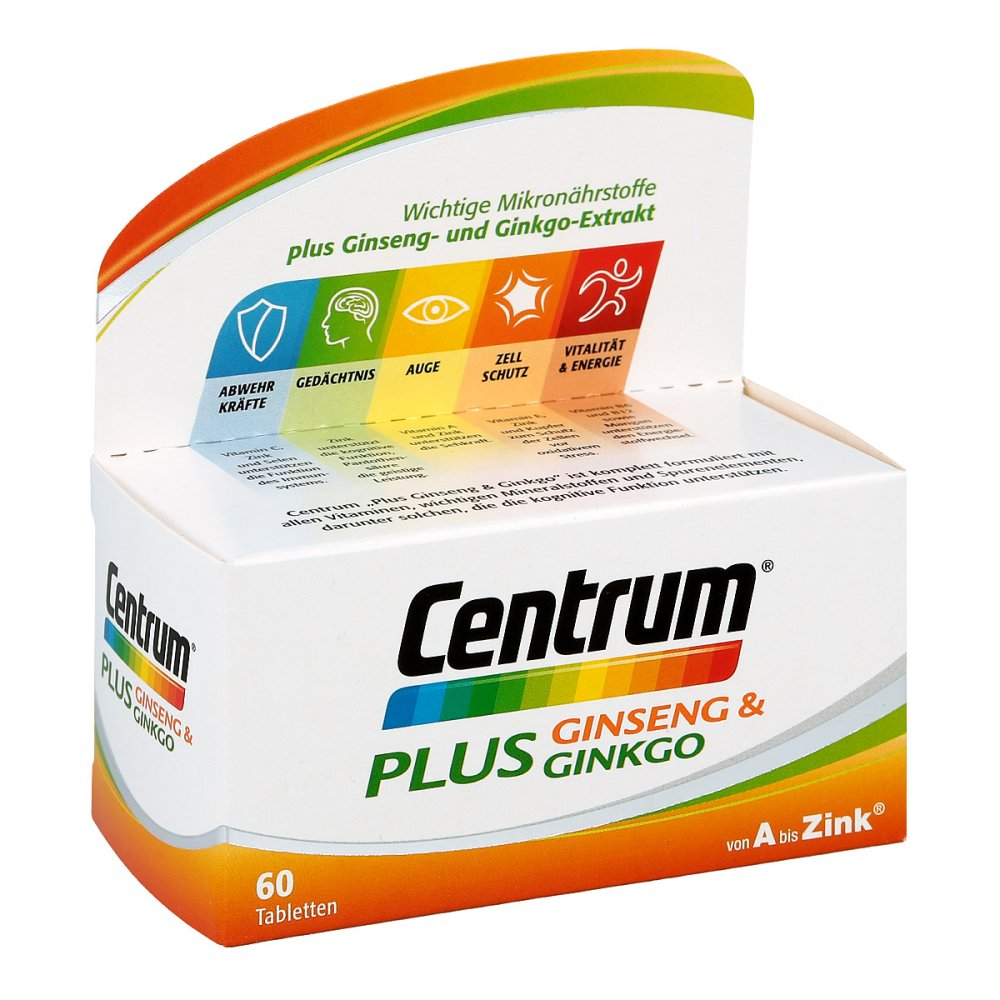 Pfizer Consumer Healthcare Gmb Centrum Plus Ginseng & Ginkgo 60 stk 12526569