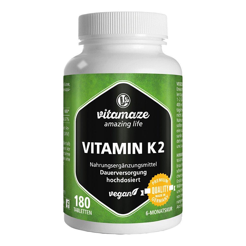 Vitamaze GmbH Vitamaze Vitamin K2 200 µg hochdosiert vegan 180 stk 12741457