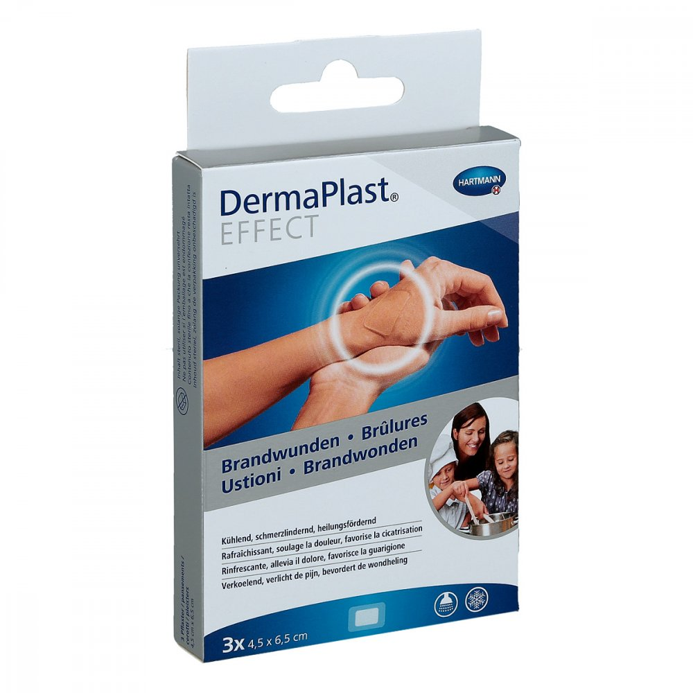 PAUL HARTMANN AG Dermaplast Effect Brandwunden 4,5x6,5 cm Pflaster 3 stk 13414789