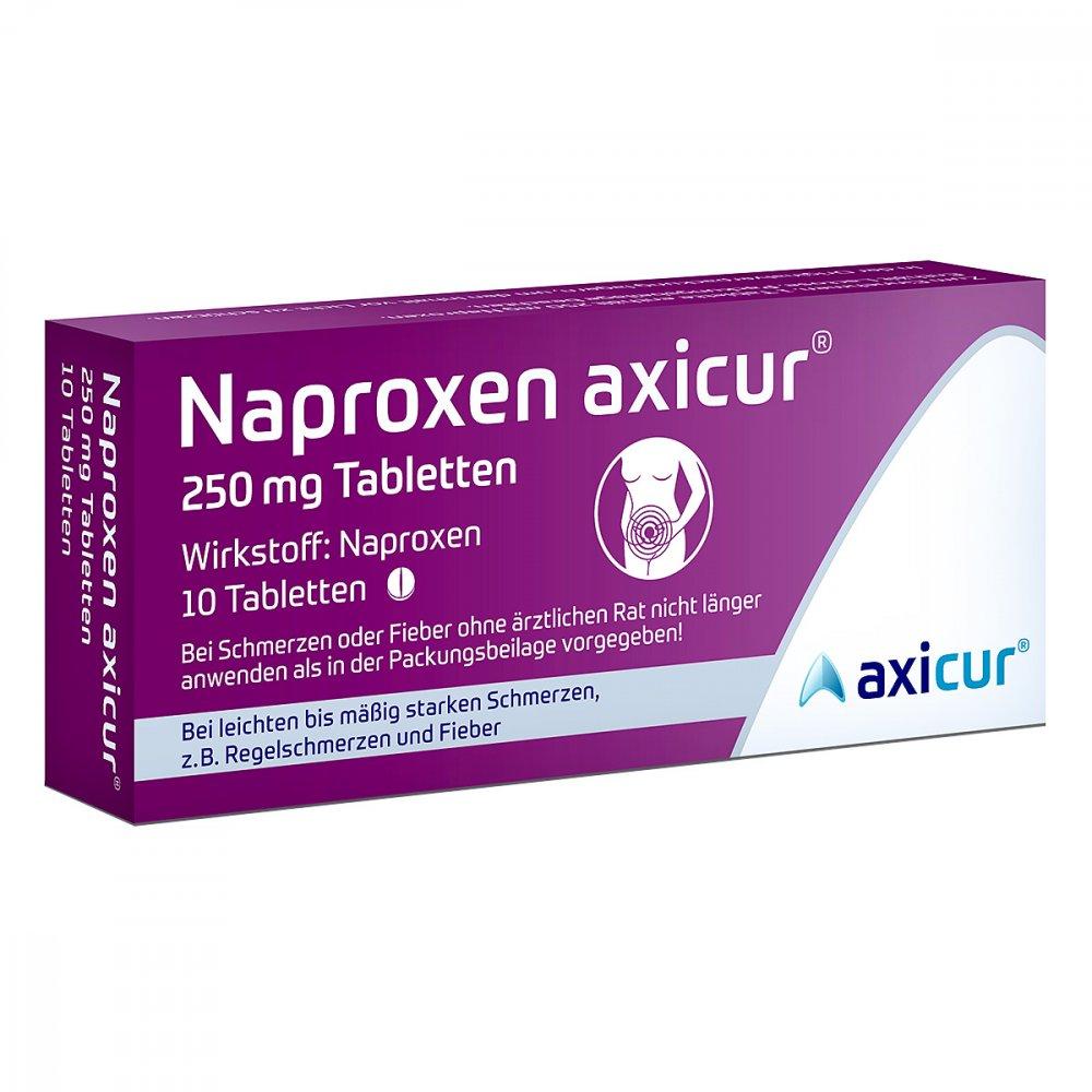 axicorp Pharma GmbH Naproxen axicur 250 mg Tabletten 10 stk 14412114
