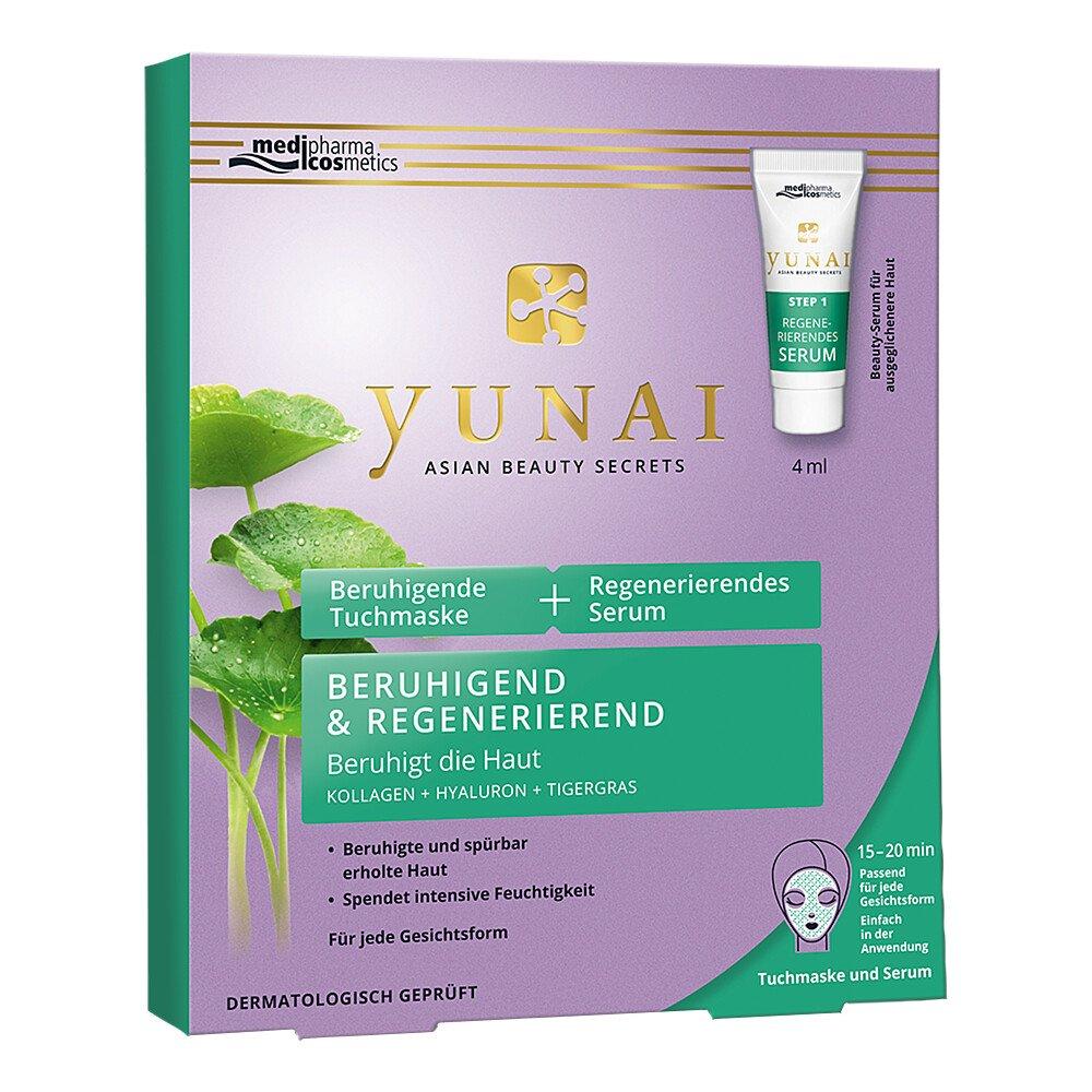 Dr. Theiss Naturwaren GmbH Yunai beruhigende Tuchmaske 25g+regener.serum 4ml 1 Pck 14416974