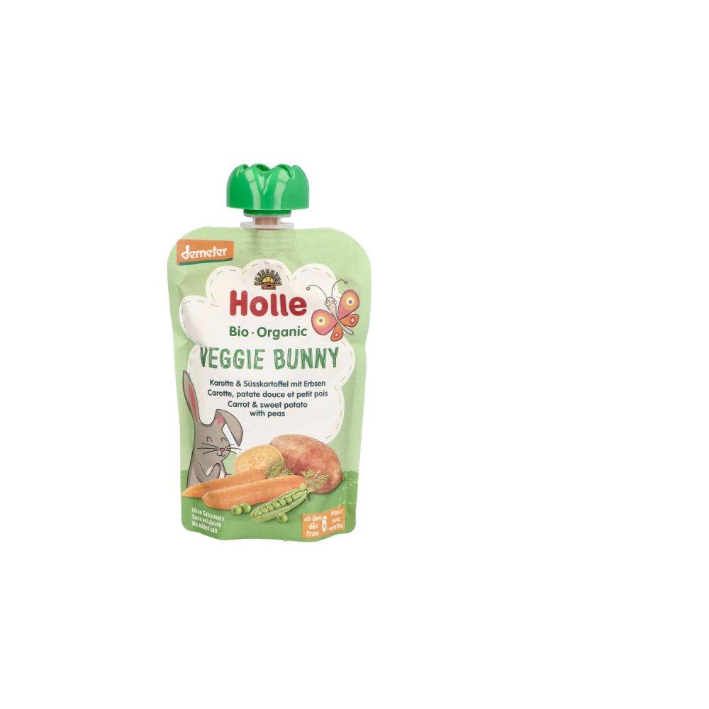 Holle baby food AG Holle Veggie Bunny Karotte & Süsskartoffel mit Erbse 100 g 14419688