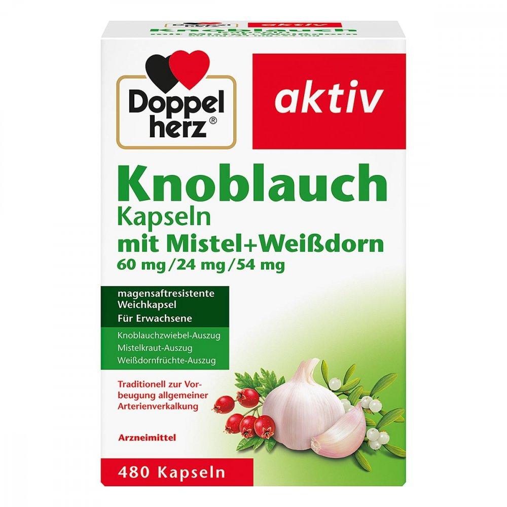 Queisser Pharma GmbH & Co. KG Doppelherz aktiv Knoblauchkapseln mit Mistel + Weißdorn 480 stk 15994609