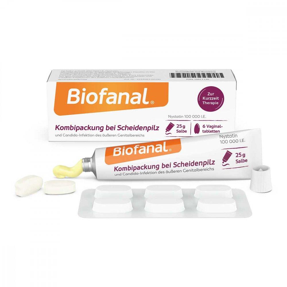Dr. Pfleger Arzneimittel GmbH Biofanal Kombipackung b.Scheidenpilz Vagtab.+salbe 1 Pck 16011135