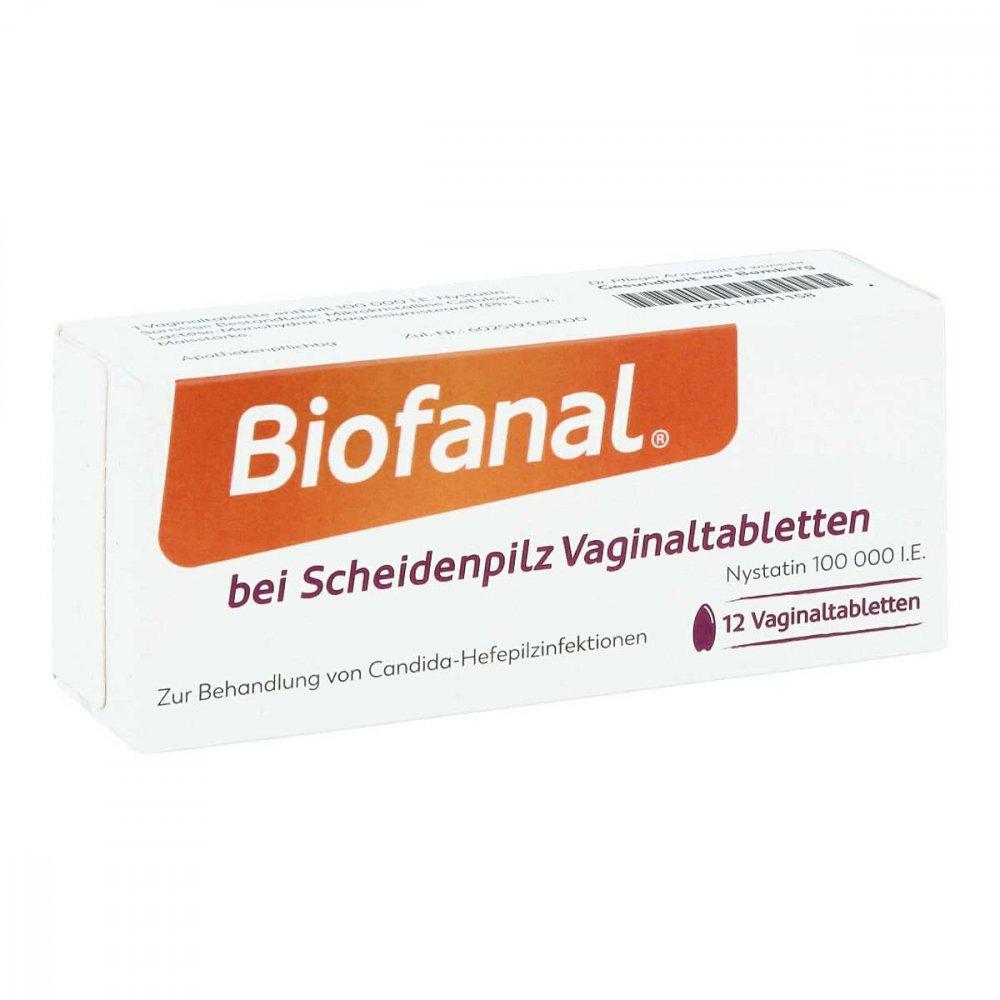Biofanal bei Scheidenpilz 100 000 I.e. Vaginaltabletten 12 stk 16011158