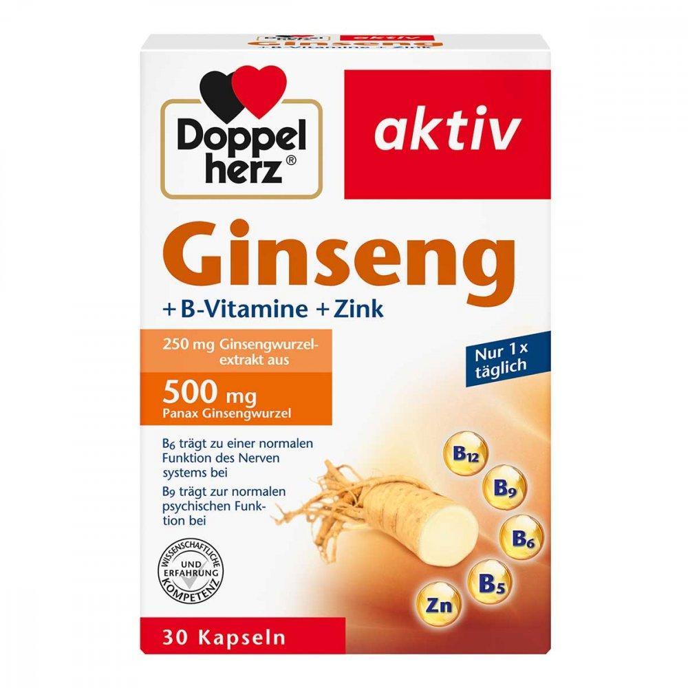 Queisser Pharma GmbH & Co. KG Doppelherz Ginseng 250+b-vitamine+zink Kapseln 30 stk 16082684
